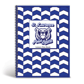 Custom lesson plan book cover with school mascot