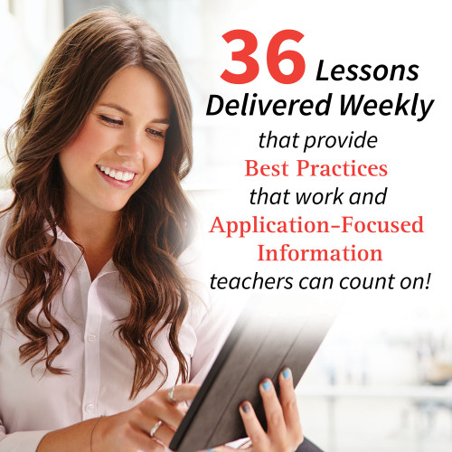 36 lessons delivered weekly