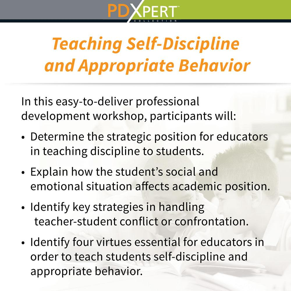 Ready-to-Use Inservice Workshops on Behavior: Teaching Self-Discipline and Appropriate Behavior