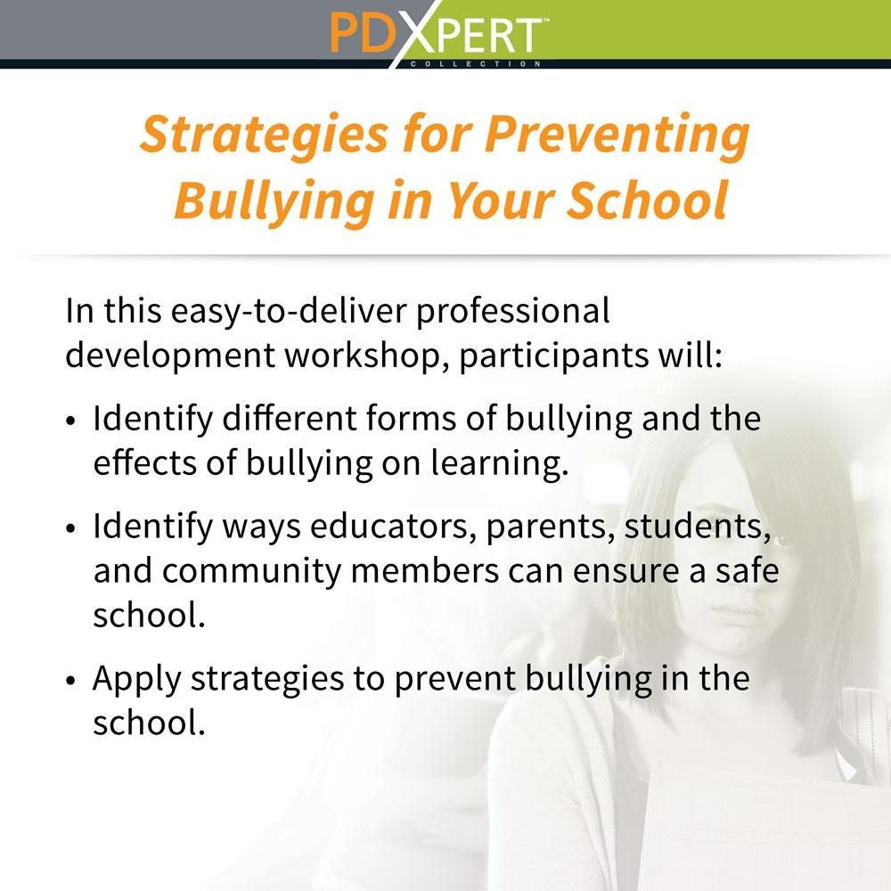 Ready-to-Use Inservice Workshops on Bullying: Strategies for Preventing Bullying in Your School