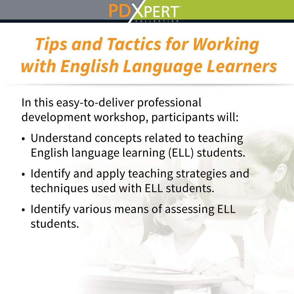 Ready-to-Use Inservice Workshops on Inclusion: Tips and Tactics for Working with English Language Learners