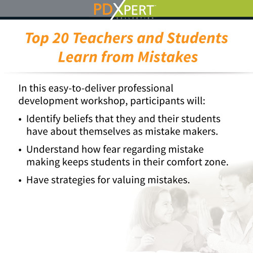 Ready-to-Use Inservice Workshops on Social-Emotional Learning: Top 20 Teachers and Students Learn from Mistakes