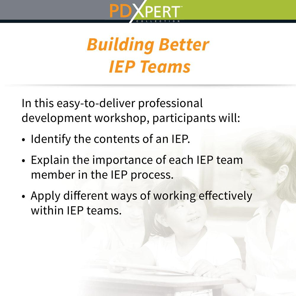 Ready-to-Use Inservice Workshops on Special Education: Building Better IEP Teams