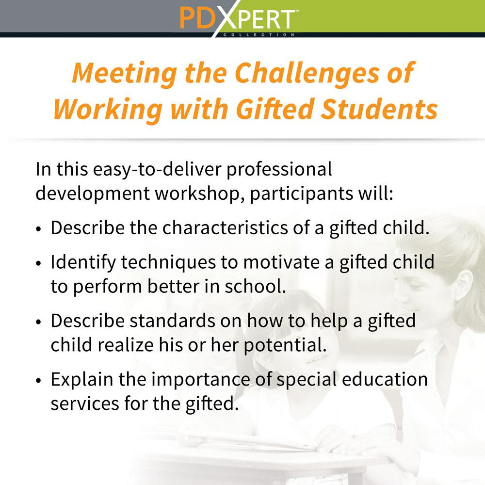Ready-to-Use Inservice Workshops on Special Education: Meeting the Challenges of Working with Gifted Students