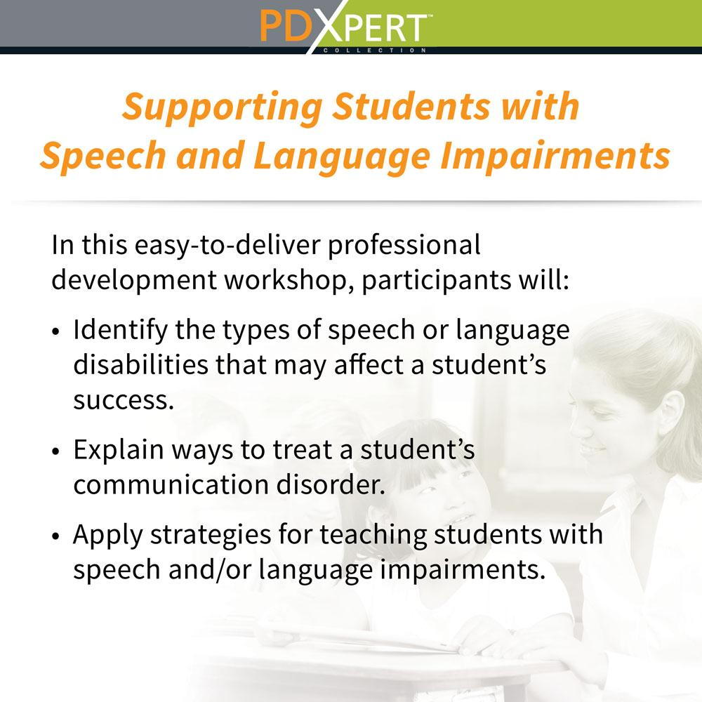 Ready-to-Use Inservice Workshops on Special Education: Supporting Students with Speech and Language Impairments