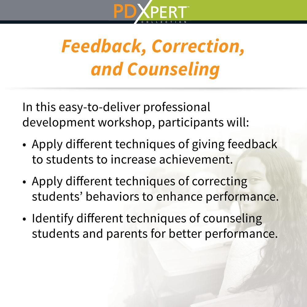 Ready-to-Use Inservice Workshops on Student Motivation & Achievement: Feedback, Correction, and Counseling