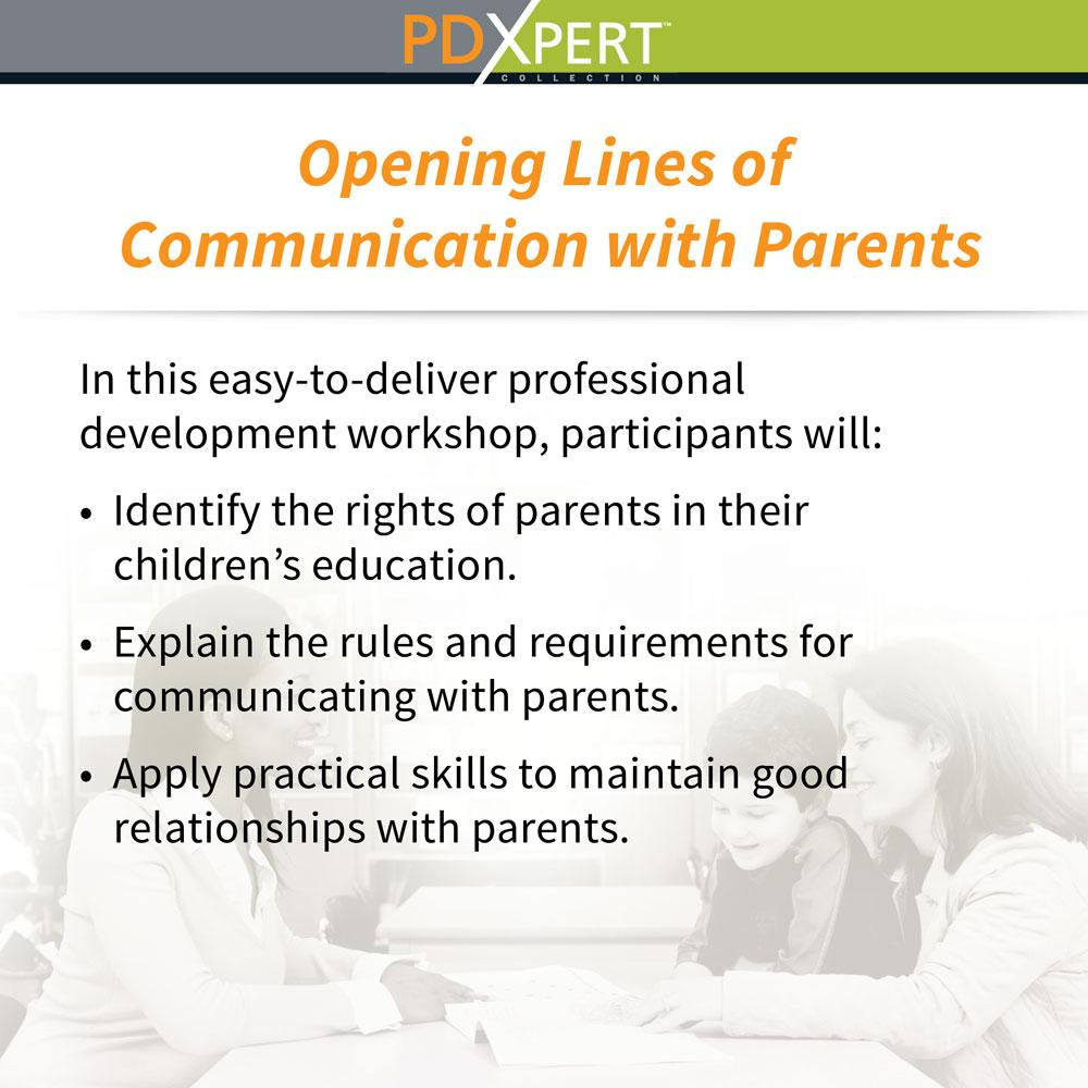 Ready-to-Use Inservice Workshops on Working with Parents: Opening Lines of Communication with Parents