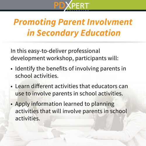 Ready-to-Use Inservice Workshops on Working with Parents: Promoting Parent Involvement in Secondary Education